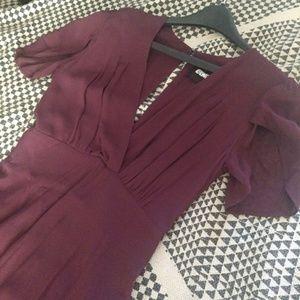 Reformation burgundy maroon maxi dress